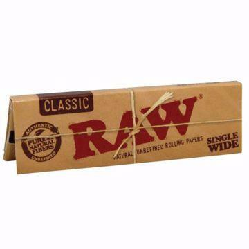 RAW CLASSIC SINGLEWIDE SINGLE WINDOW NATURAL UNREFINED ROLLING PAPERS