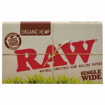RAW ORGANIC HEMP SINGLEWIDE DOUBLE WINDOW NATURAL UNREFINED ROLLING PAPERS