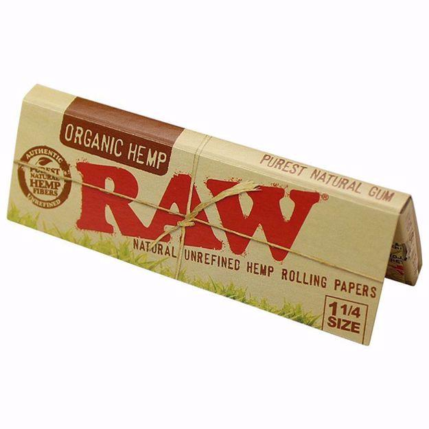 RAW ORGANIC HEMP 1 1/4 SIZE NATURAL UNREFINED ROLLING PAPERS