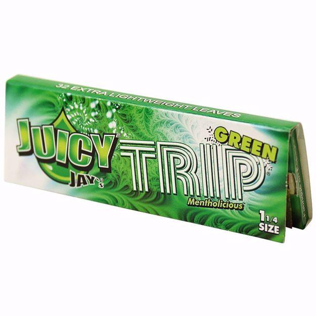 JUICY JAY'S 1 1/4 SIZE TRIP GREEN FLAVORED ROLLING PAPERS