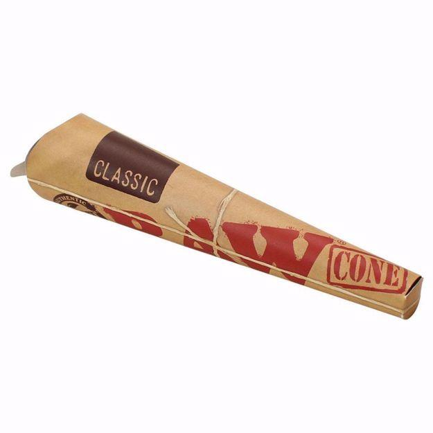 RAW CLASSIC 1 1/4 SIZE PRE ROLLED CONES - 6 PACK