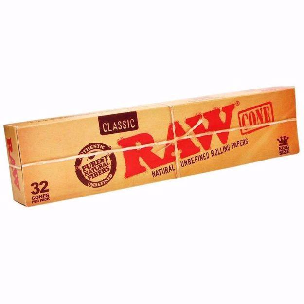 RAW CLASSIC KING SIZE PRE ROLLED CONES - 32 PACK