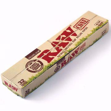 RAW ORGANIC HEMP 1 1/4 SIZE PRE ROLLED CONES - 32 PACK