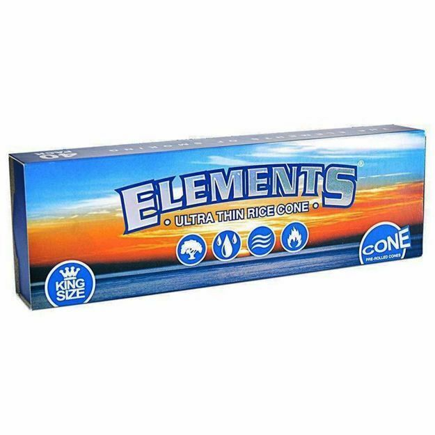 ELEMENTS ULTRA THIN KING SIZE RICE PAPER PRE ROLLED CONES