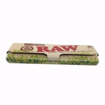 ROLLING SUPREME METAL KING SIZE ROLLING PAPER CASE - RAW ORGANIC DESIGN