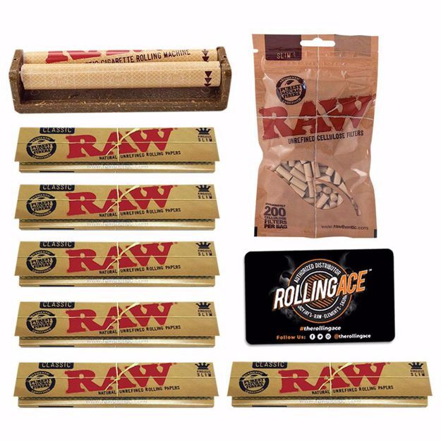 RAW CLASSIC KING SIZE ESSENTIALS STARTER BUNDLE WITH FILTERS