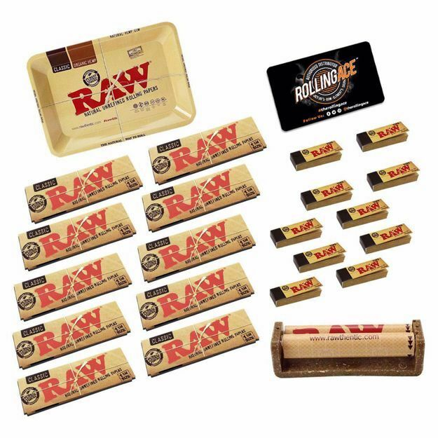 RAW CLASSIC 1 1/4 SIZE MASTER SET STARTER BUNDLE WITH TIPS