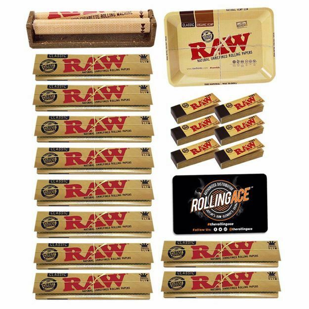 RAW CLASSIC KING SIZE SLIM MASTER SET STARTER BUNDLE WITH TIPS