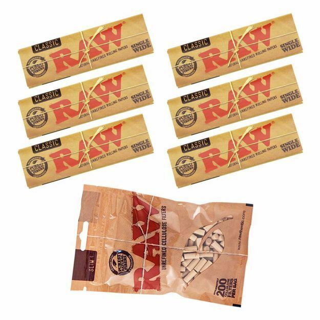RAW CLASSIC SINGLE WIDE REFILL BUNDLE WITH FILTERS