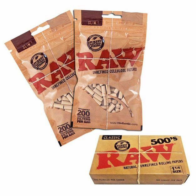 RAW CLASSIC 500's REFILL BUNDLE WITH FILTERS