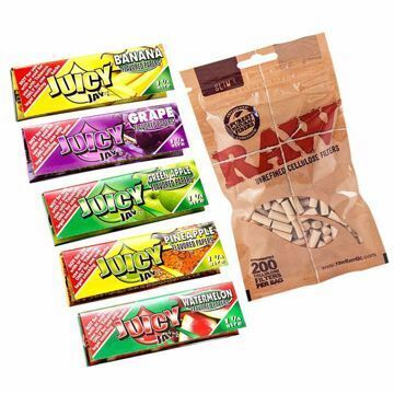JUICY JAY'S 1 1/4 SIZE FRUIT FUSION SAMPLER BUNDLE WITH FILTERS