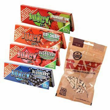 JUICY JAY'S 1 1/4 SIZE BERRYLICIOUS SAMPLER BUNDLE WITH FILTERS
