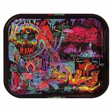 RAW GHOST SHRIMP LARGE ROLLING TRAY (Ver 2)