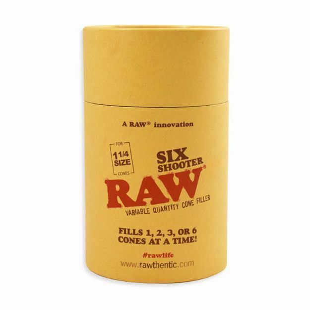 RAW 1 1/4 SIZE SIX SHOOTER VARIABLE QUANTITY CONE FILLER