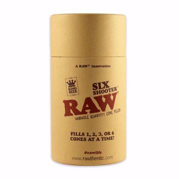 RAW KING SIZE SIX SHOOTER VARIABLE QUANTITY CONE FILLER